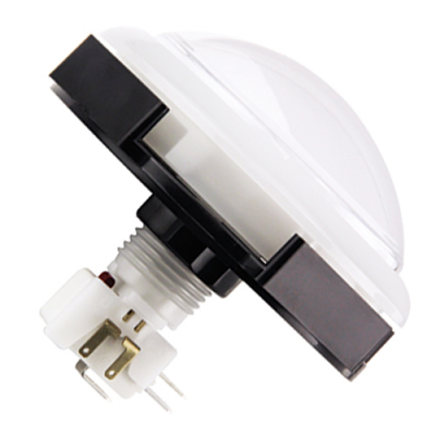 RGB Jumbo Round White IPB LED w/ .250 microswitch & Translucent Bezel - 75T-4L12-11ZL - Item Photo