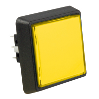 75V-0004-35 - Yellow Large Square Combo IPB w/ subminiature microswitch #73