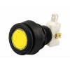 Yellow small circle LED IPB w/ .250 microswitch  - 77-0000-255LIT
