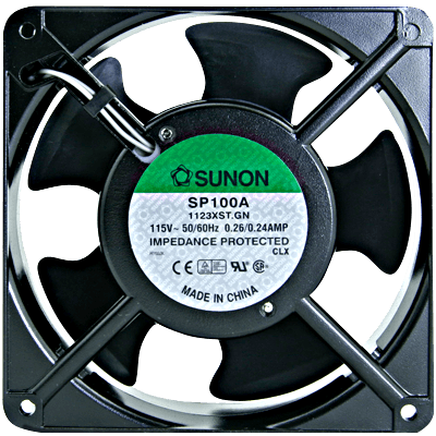 "Cooling Fan, 4.69"" x 4.69"" x 1.5"", 110VAC - 80-0006-64 - Item Photo"