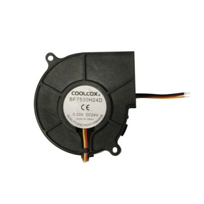 "Cooling Fan, 2.95""x 2.95""x 1.18"", 24V, 3 Wire, W/o Connector - 80-0006-75 - Item Photo"
