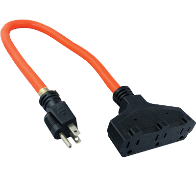 2 Foot Tri-Tap Extension Cord - 80-0201-00 - Item Photo