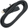 15 Foot Black Extension Cord, 16/3 SJTW - 80-0300-01