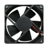 "Cooling Fan, 4.69""x 4.69"" x 1.5"", 12V, 2 Wire, Ball Bearing, W/o Connector - 80-0006-14"
