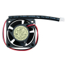 "Coolling Fan, 1.57"" x 1.57""X 0.79"", 12V, 2 Wire, Ball Bearing, W/ Connector - 80-0006-23"