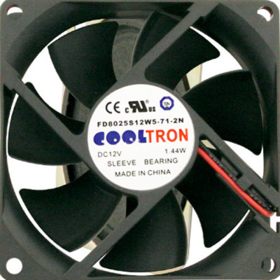 "3.15"" x .98"" 12VDC Cooling Fan with Ball Bearings - 80-0006-34 - Item Photo"
