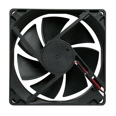 "Cooling Fan, 3.62""x 3.62"" x .98"", 24V, 2 Wire, Ball Bearing, W/o Connector  - 80-0006-48 - Item Photo"