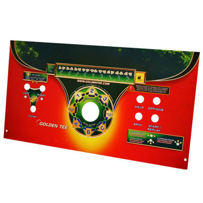 Control Panel Plexi w/ Art for use with Golden Tee Unplugged Fun-Glo Pedestal - 845000294R-FG - Item Photo