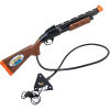 Shotgun Assembly for Big Buck HD, Black with Woodgrain, Orange Butt - 820-00018-00