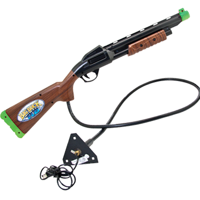 Shotgun Assembly for Big Buck HD, Black with Woodgrain, Green Butt - 820-00019-00 - Item Photo