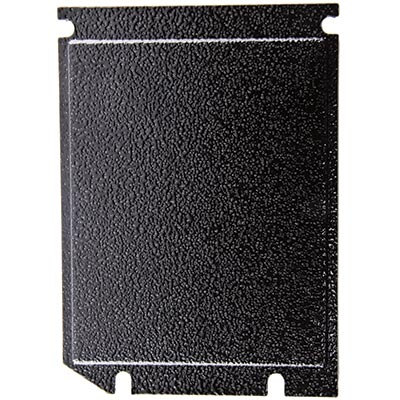 Validator Black Blanking Plate for Over/Under Upstacker Validator Door - 891-0100-4016 - Item Photo