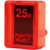 Reject Button, Red $0.25 Insert for Wells Gardner / Coin Controls - 891-1113-01