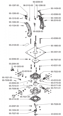 Analog Joystick with Trigger Handle - 95-0179-00 - Exploded View