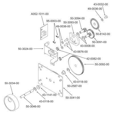Trackwheel Control for Arkanoid - 95-0931-00 - Exploded View