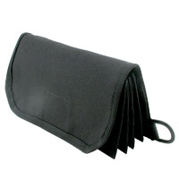 Currency Wallet, Black Imperial Nylon - 95-1149-00 - Item Photo