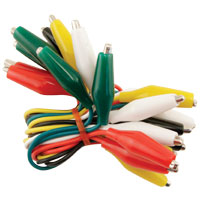 "15"" Jumper Wires With Miniature Alligator Clips - 95-1809-00 - Item Photo"