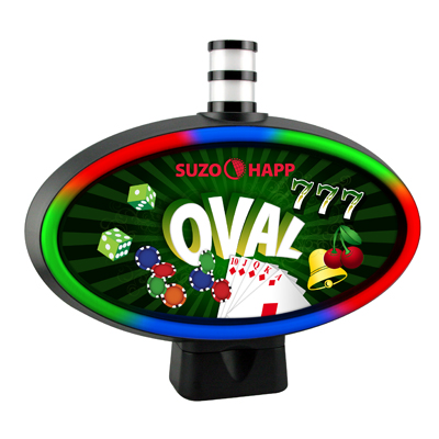 RGB Oval Topper - USB Version, Replacement for Use on IGT Games - 91440200 - Item Photo