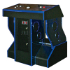 FunGlo Pedestal Cabinet for Silver Strike Bowling, Acrylic Blue - 95-3404-B2