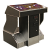 FunGlo Pedestal Cabinet for Silver Strike Bowling, Chrome - 95-3404-C2