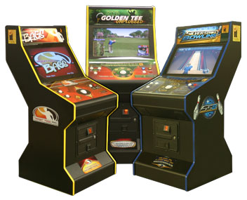 "26"" LCD Game Cabinet with LCD & Coin Door configured for Target Toss Pro (BAGS) Game Kit - 96-0903-00 - Item Photo"