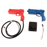 999-0836 - Sega/ Sammy, Red & Blue, Gun Kit, For House of Dead 2, Lost World Jurassic Park, & Confidential Mission
