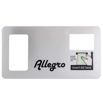 TouchTunes payment bezel label for Allegro - 900188-001 - Item Photo