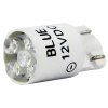 12V Blue Cluster LED T3-1/4 Wedge Base  - 91-10WB-123B