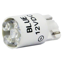 91-10WB-123B - 12V Blue Cluster LED T3-1/4 Wedge Base