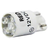 12V Red Cluster LED T3-1/4 Wedge Base - 91-10WB-123R