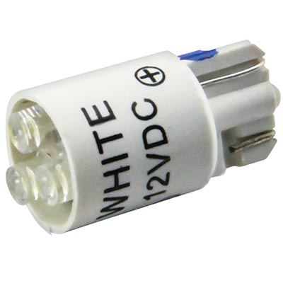12V White Cluster LED T3 1/4 Wedge Base - 91-10WB-123W - Item Photo