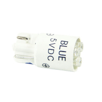 91-10WB-53B - 5V Blue Cluster LED T3-1/4 Wedge Base