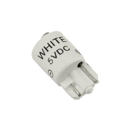 91-10WB-53W - 5V White Cluster LED T3-1/4 wedge Base