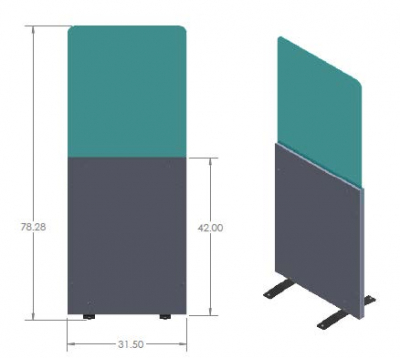 FREESTANDING SOCIAL DISTANCING PANELS - 92-2695-00 - Item Photo