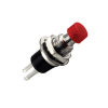Red Miniature Momentary Round Push Button w/ Nut and Washer - 95-0049-00