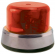 Rotary Beacon Light Assembly, Red Dome & Chrome Ring with Inner Mounting Plate - 95-0115-10IC