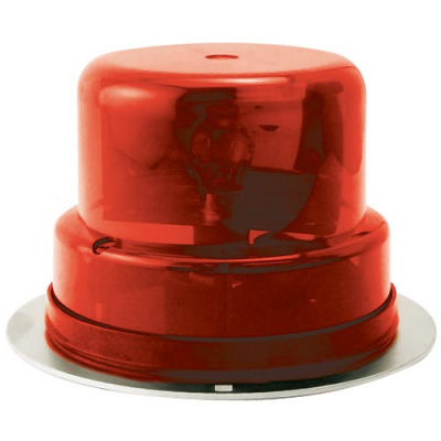 Beacon Light Assembly Red Dome without Chrome Ring with Outer Mounting Plate - 95-0115-10U - Item Photo