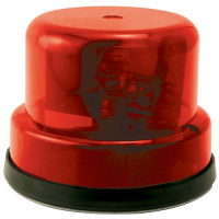 95-0115-10I - Rotary Beacon Light Assembly, Red Dome without Chrome Ring with Inner Mounting Plate