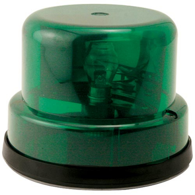 Rotary Beacon Light, Green Dome without Chrome Ring with Inner Mounting Plate - 95-0115-13I - Item Photo