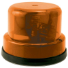 Rotary Beacon Light, Amber Dome, without Chrome Ring, with Inner Mounting Plate - 95-0115-17I