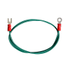 "GROUND WIRE 18 AWG 24"" L #8 RING TERMINAL & SPADE TERM - 95-0471-00"