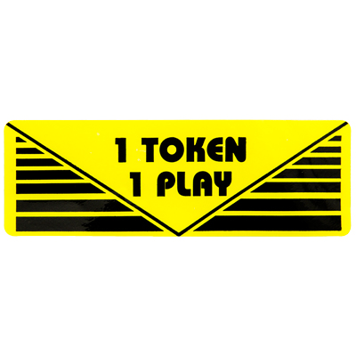 "Pay Per Play Label ""1 Token 1 Play"" - 95-0723-1T - Item Photo"