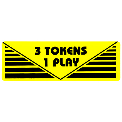 "Pay per Play Label ""3 Token 1 Play"" - 95-0723-3T - Item Photo"