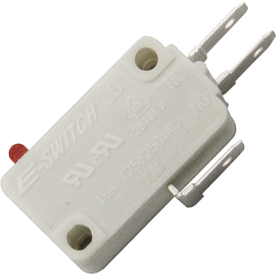"E-Switch Snap Switch, .187"" Terminal, 15 Amp, 50 Gram Force - 95-0733-90 - Item Photo"
