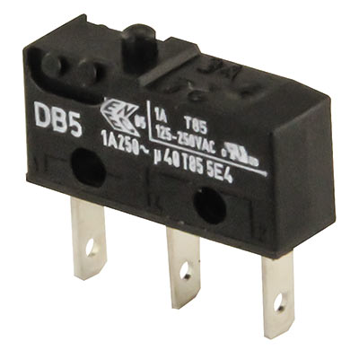 "Cherry Sub-Miniature Switch 1 AMP 125/ 250V .110"" Terminal DB5G-B1AA 70 GRAM - 95-1807-00 - Item Photo"