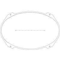 95-2746-00 - Mini Ellipse Blank Plexi-Glass