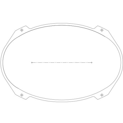 Mini Ellipse Blank Plexi-Glass - 95-2746-00 - Item Photo