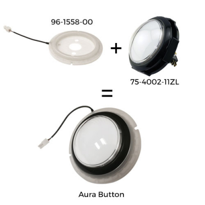 AURA RGB LED LIGHT ASSEMBLY FOR JUMBO BUTTONS - 96-1558-00 - Item Photo