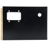 "Valley pool tables 9-3/4"" x 7"" black push chute coin door - CPYECCDD10202"