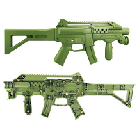 CTF-2101-SET - Sega, Green, Set of Gun Halves, For Ghost Squad