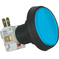 D54-0004-12 - Blue Large Round IPB Lamp w/.250 Microswitch #161